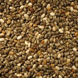 Chia zaden zwart wit heel